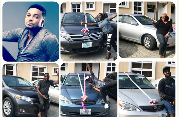 [NEWS] Tim Godfrey Gifts New Cars to 5 of His Band Members | @timgodfreyworld ‏