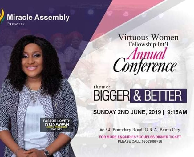 [EVENT] VIRTUOUS WOMEN FELLOWSHIP INT'L, SET TO HOST HER 2019 CONFERENCE.