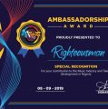 [NEWS] A +Plus Club 360 Award confers ambassadorial award on Righteousman.  | @arkmuzik @righteousousmann @aplusclub360